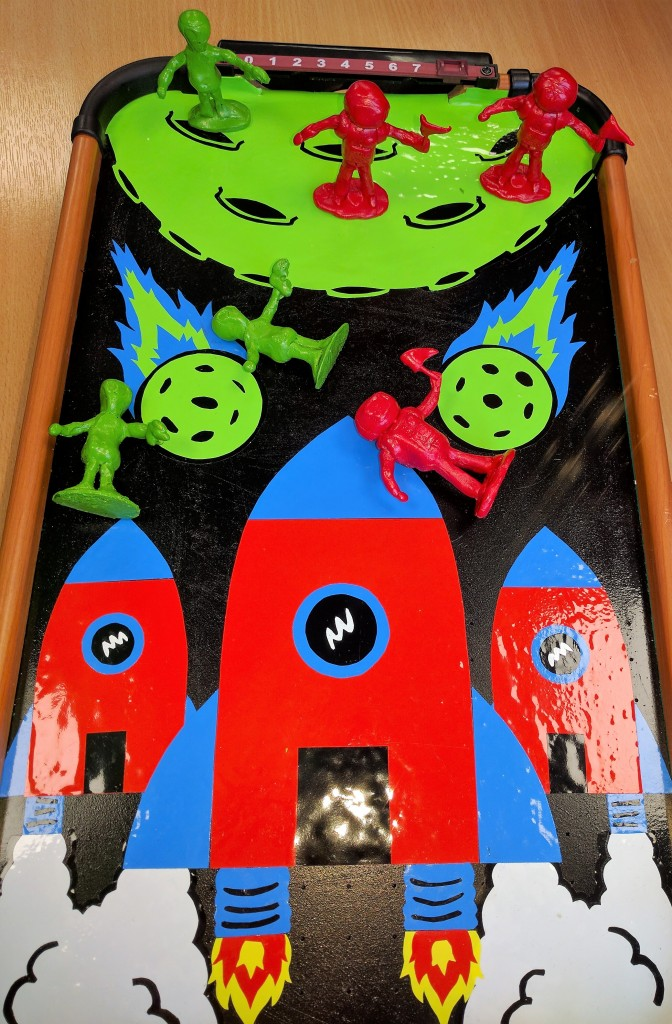 Dominique Finnegan's Invasion air hockey board